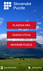 Screen from application Slovenské Puzzle
